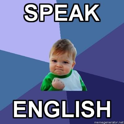 english lick of Cant speak a
