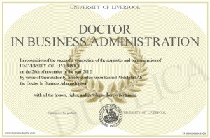 Doctor In Business Administration
