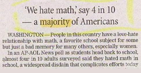 We Hate Math