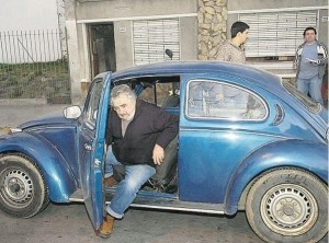 Uruguay president drives VW beetle