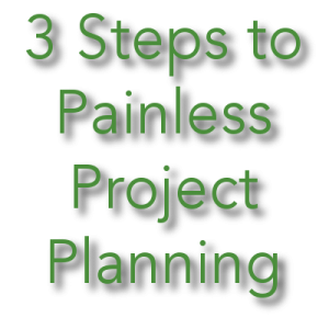 Project Management in Three Broad Strokes